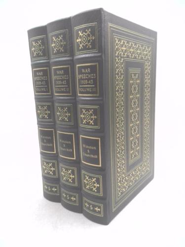 The War Speeches of Winston S. Churchill [1939-1945] Three-Volume Leatherbound Easton Press Collector's Set