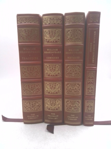SIX TRAGEDIES, EIGHT COMEDIES, POEMS, AND HISTORIES (FOUR VOLUMES)