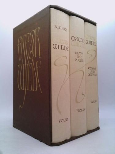 Oscar Wilde in 3-Vol Box Set (Stories, Plays, Poems, Essays, Letters) [Folio Society 1993]