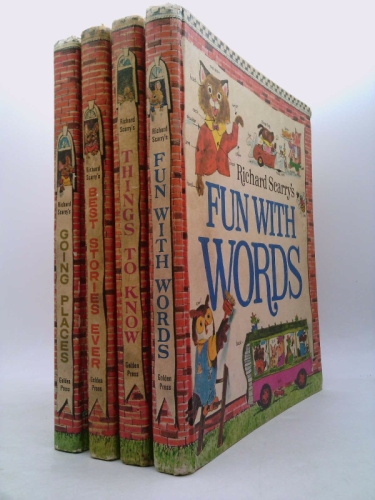 Richard Scarry's Look & Learn Library: Four Volumes in Slipcase.  Fun With Words; Going Places; Things to Know; Best Stories Ever